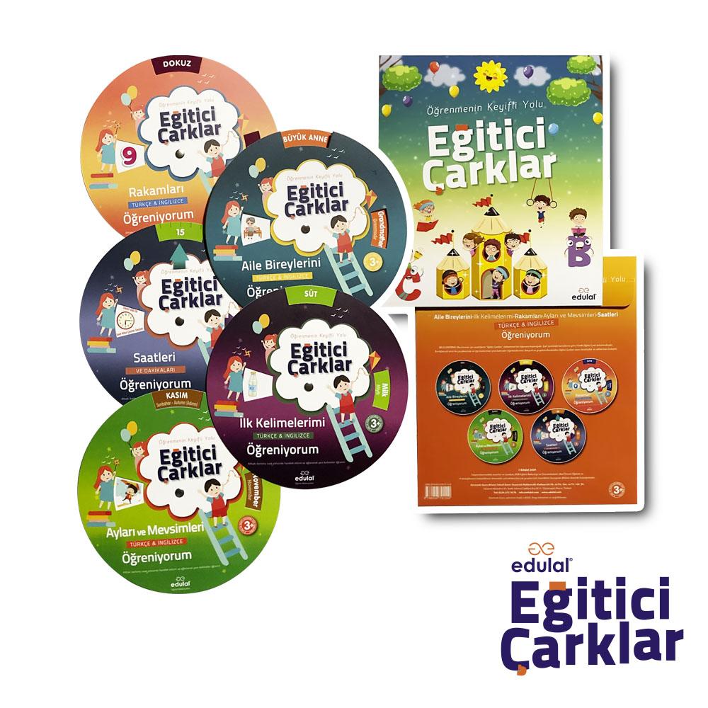 Çocuklar için Aktiviteli Eğitici Çarklar Eğitim Seti - 5li set